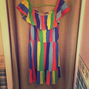 Colorful, off the shoulder fun!